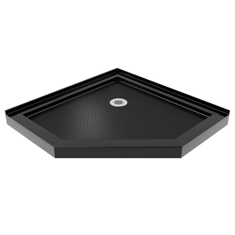 Dreamline Slimline 38 In X 38 In Neo Angle Shower Tray In Black Dlt 2038380 88 The Home Depot