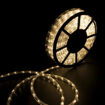 Outdoor 50 ft. 110-Volt Plug-In Warm White LED Rope Light Color Changing Lights
