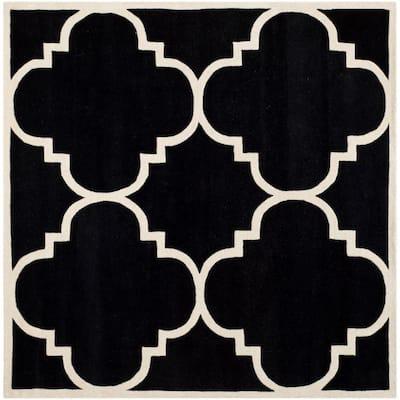 Chatham Black/Ivory 9 ft. x 9 ft. Square Area Rug