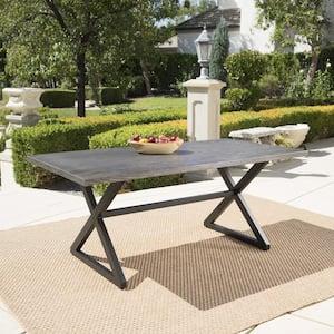 Rolando Grey Metal Outdoor Dining Table