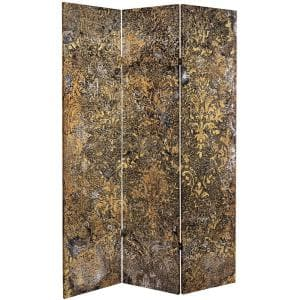 Roots of the Earth 6 ft. Printed 3-Panel Room Divider