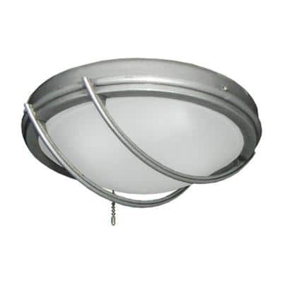 163 Indoor/Outdoor Low Profile Brushed Nickel BN-1 Ceiling Fan Low Profile Bowl Light