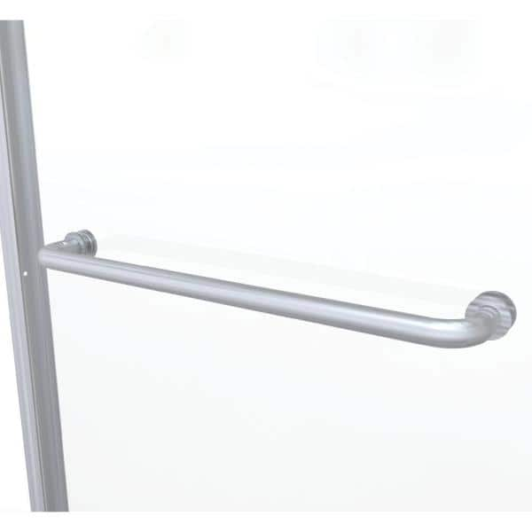 Basco Infinity 58 1 2 In X 57 In Clear Semi Frameless Sliding Tub Door In Brushed Nickel Infh05a5857clbn The Home Depot