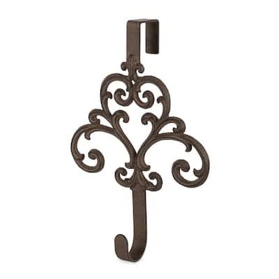 Metal Acanthus Wreath Door Hanger