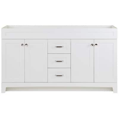 Thornbriar 60 in. W x 21.52 in. D x 34.25 in H Bath Vanity Cabinet Only in White