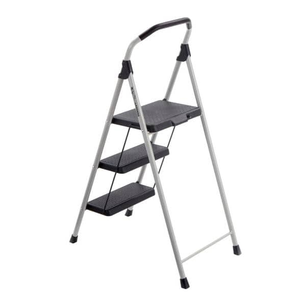 Gorilla Ladders 3 Step Lightweight Steel Step Stool Ladder With 225 Lbs Load Capacity Type Ii Duty Rating Gls 3 The Home Depot