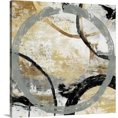 """""""Gold and Black Rings I"""" by Tom Reeves Canvas Wall Art"""