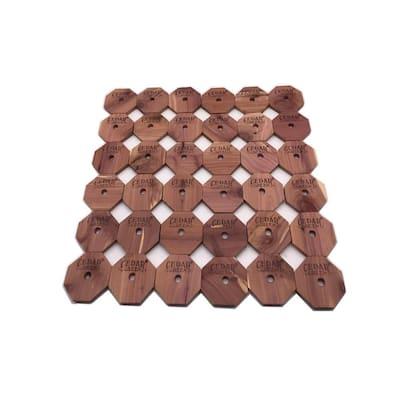 "Aromatic Cedar Rings (36-Piece), 2.375""x2.375""x2.375"""