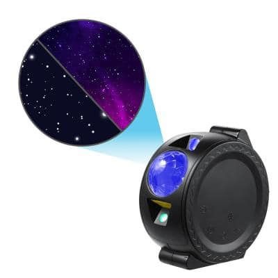 Star Projector - Starlight Sky Laser Projector with LED Nebula, Stars, and Moon Reflection (Black)