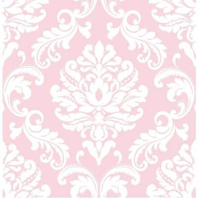 Pink Ariel Vinyl Strippable Wallpaper (Covers 30.75 sq. ft.)