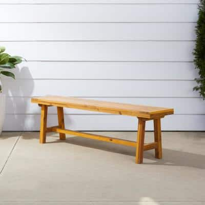 Miami 3-Person Wood Outdoor Bench
