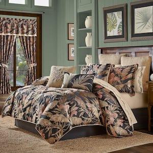 Martina Black King 4Pc. Comforter Set