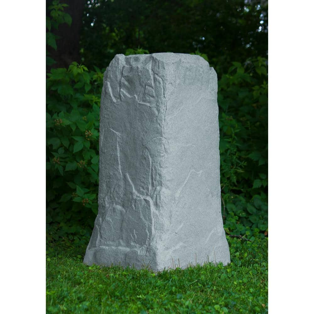 Emsco 36 3 4 In H X 18 In W X 19 In L Monolith Landscape Granite Resin Rock Utility Cover 2236 1 The Home Depot