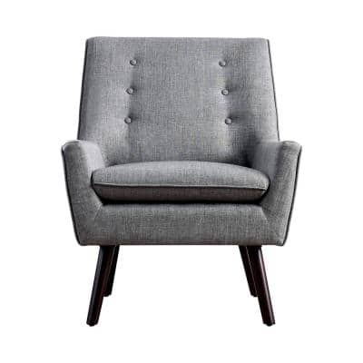 Pascale Light Gray Tufted Armchair