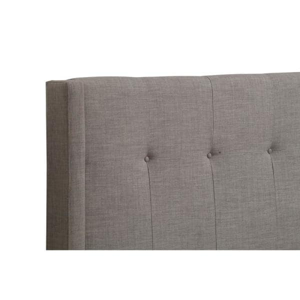Modus Furniture Geneva Madeleine Gray Dolphin Linen Queen Headboard With Tufted Wingback Design 3zh3l5bh7 The Home Depot