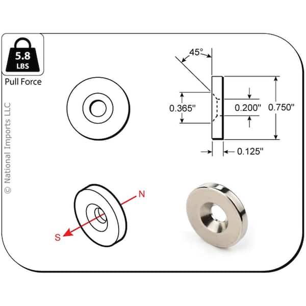 4 pks of super magnets 34 x 316 for crafts 12 magnets total