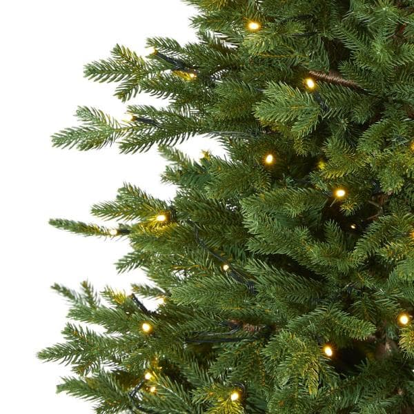 Nearly Natural 5 Ft Pre Lit Wyoming Spruce Artificial Christmas Tree With 300 Clear Led Lights T1805 The Home Depot