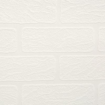 Brick White Vinyl Peelable Wallpaper (Covers 56 sq. ft.)