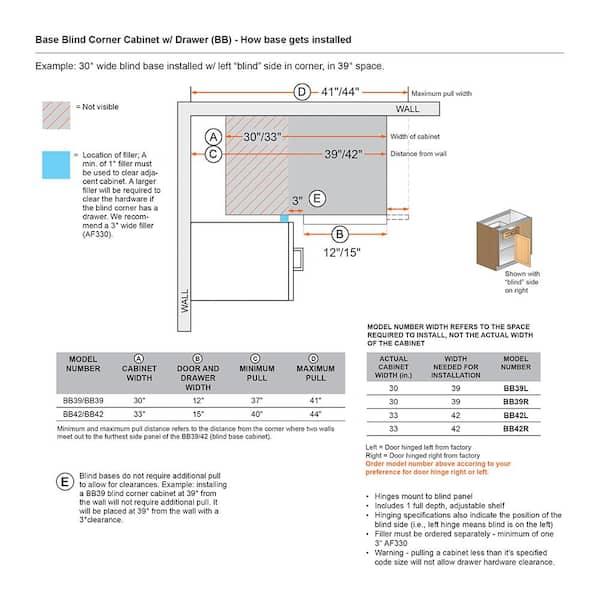 Blind Corner Base Kitchen Cabinet