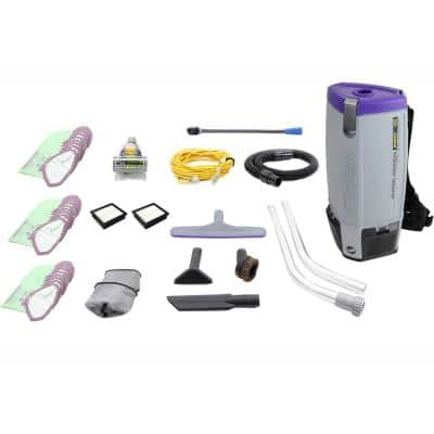 Fully Loaded Proteam Super Coach Pro 10 Qt. Commercial Backpack Vacuum Cleaner