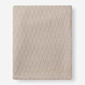 Cotton Bamboo Sand Queen Woven Blanket