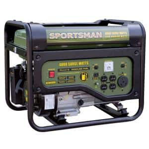 4,000/3,500-Watt Gasoline Powered Portable Generator with RV Outlet, 50 State Compliant