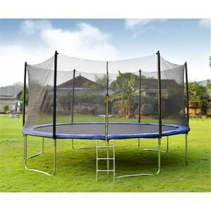 12 ft. Trampoline Set Kid Play Jump Garden Trampoline Set Net Head Cover Outdoor