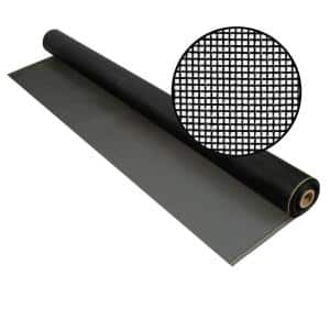 96 in. x 100 ft. Charcoal Fiberglass Screen 20 in. x 20 in. Mesh