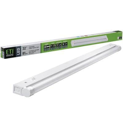 32 in.LinkableLED Beam Adjustable Under Cabinet Light Plug inorDirect Wire 1000 Lumens 3000K Dimmable