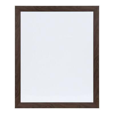 Beatrice Walnut Brown Rectangle Dry Erase Board Memo Board