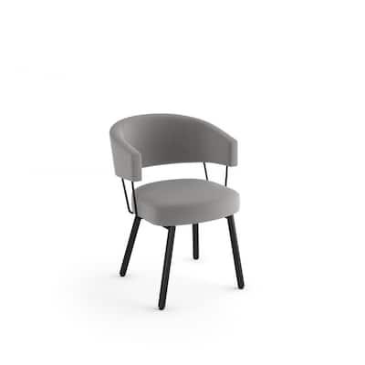 Corey Light Grey Polyester / Black Metal Dining Chair
