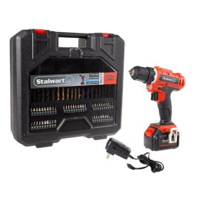 20-Volt Lithium-Ion  Cordless 3/8 in. Power Drill (71-Piece)