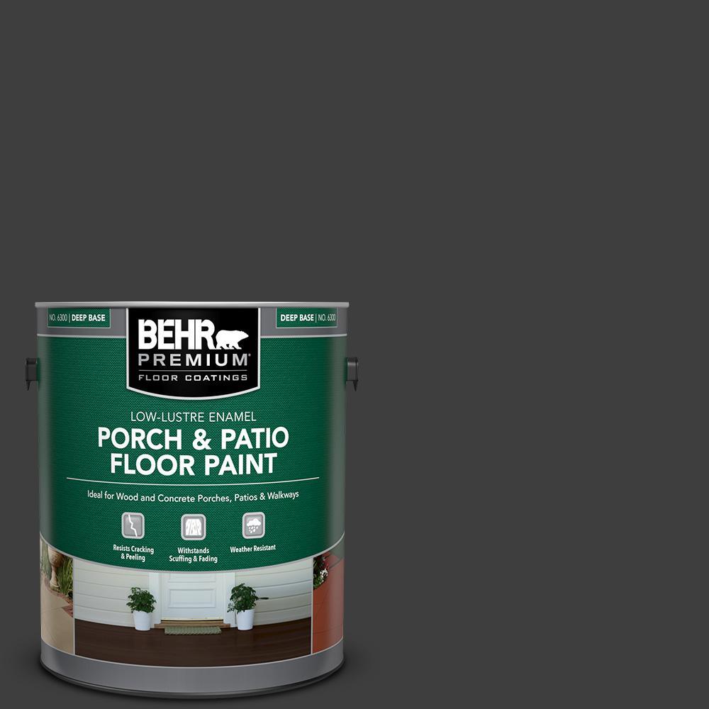 1 gal. #AE-54 Molten Black Low-Lustre Enamel Interior/Exterior Porch and Patio Floor Paint
