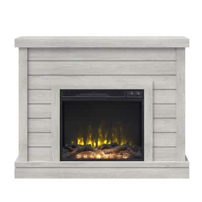 47.38 in. Wall Mantel Electric Fireplace in Omni-Sargent Oak