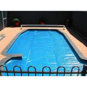 18 ft. Round Heat Wave Solar Pool Cover in Blue