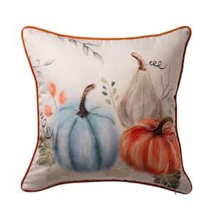 20 in.L X 20 in.W Faux Burlap Pumpkin Pillow Cover