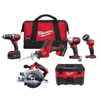 M18 18-Volt Lithium-Ion Cordless Combo Tool Kit (4-Tool) with Wet/Dry Vacuum and Circular Saw