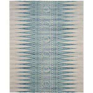 Evoke Ivory/Turquoise 8 ft. x 10 ft. Area Rug
