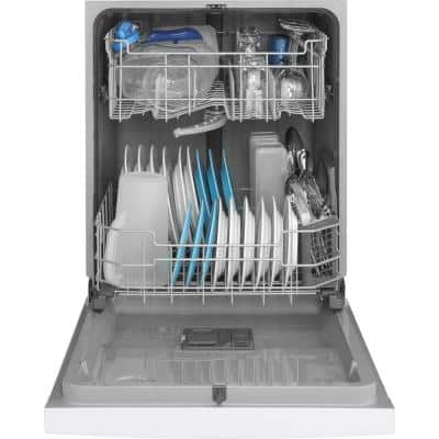 24 in. White Front Control Built-In Tall Tub Dishwasher 120-Volt with Steam Cleaning and 54 dBA
