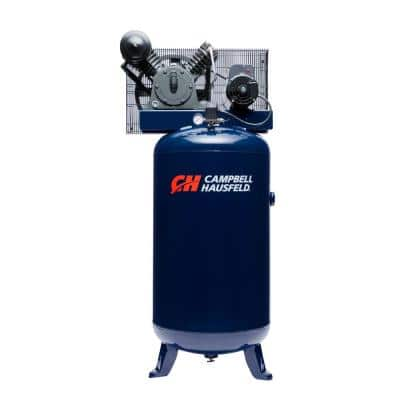 80 Gal. Vertical Two Stage Stationary Electric Air Compressor 14CFM 5HP 230V 1PH (HS5180)
