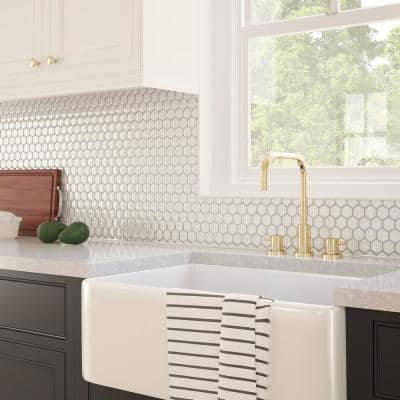 Sea Breeze White 11.51 in. x 11.06 in. x 5mm Glass Peel and Stick Wall Mosaic Tile (0.88 sq. ft./Each)