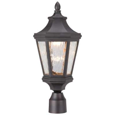 Hanford Pointe Outdoor Oil-Rubbed Bronze Integrated LED Lamp Post with Mount