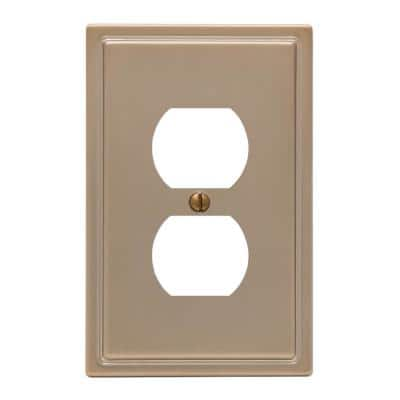 Moderne 1 Gang Duplex Steel Wall Plate - Brushed Bronze