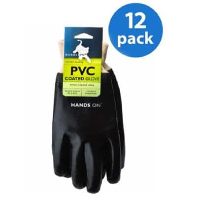 Black Fully Coated PVC Glove (12 Pair Value Pack)