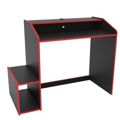 Epic 45 in. Black and Red Gaming Desk