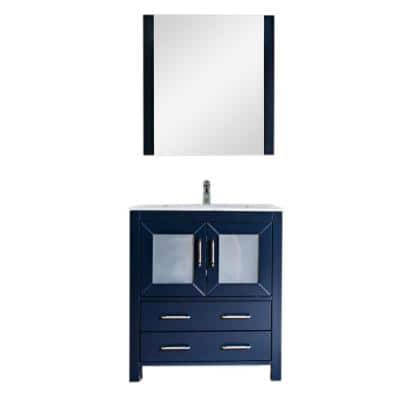 30 Inch Vanities Blue Bathroom Vanities Bath The Home Depot