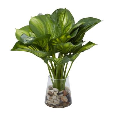 Indoor Green Ceramic Natural Plant Artificial Foliage