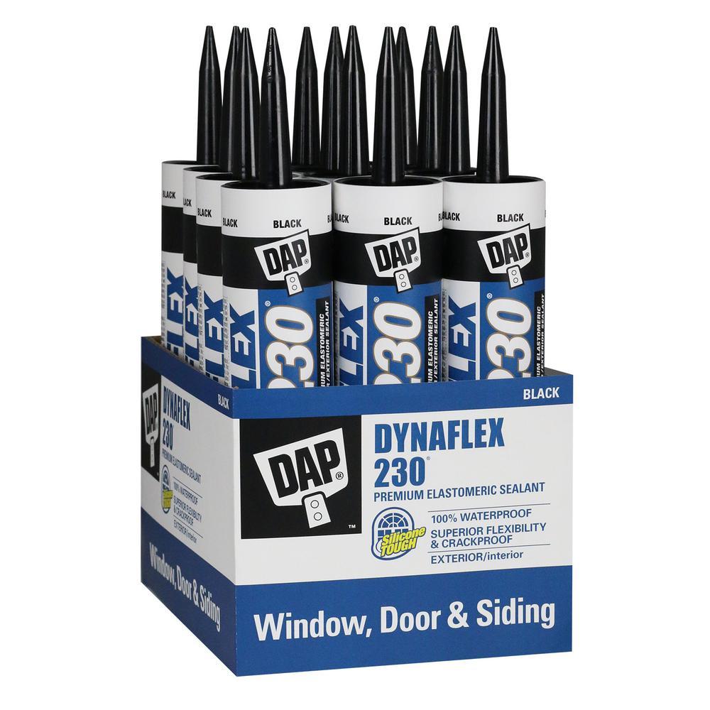 Dynaflex 230 10.1 oz. Black Premium Exterior/Interior Window, Door and Trim Sealant (12-Pack)