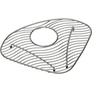 Lustertone 10.5 in. x 10.5 in. Bottom Grid for Kitchen Sink in Stainless Steel