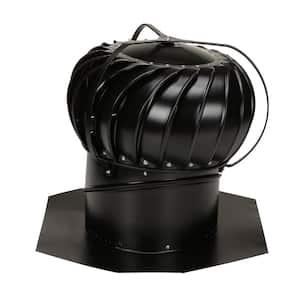 14 in. Black Aluminum Externally Braced Wind Turbine